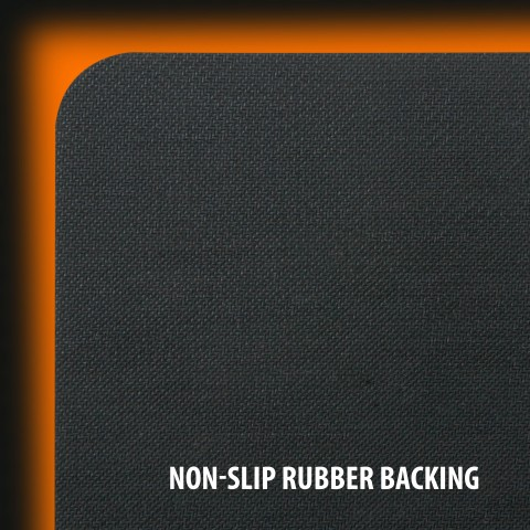 Hard Gaming Mouse Pad with ABS Plastic Surface & Non-Slip Rubber Backing