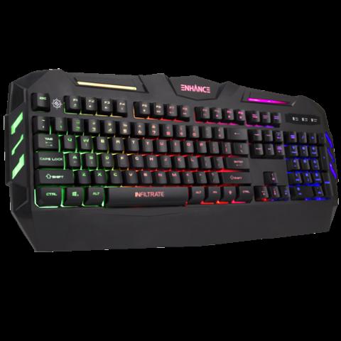 ENHANCE Infiltrate KL1 LED Gaming Keyboard - Multi Color Backlit Keyboard