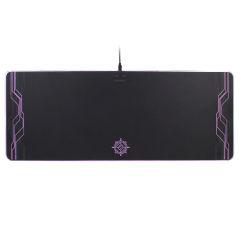 ENHANCE Extra Large LED Gaming Mouse Pad - Hard XXL Desk Mat with 7 Colors