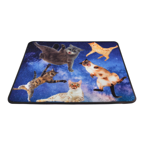 ENHANCE XL Funny Large Cat Gaming Mouse Pad with Cats Lost in Space