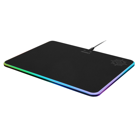 ENHANCE LED Gaming Mouse Pad with Fabric Surface, 7 RGB Colors & 2 Lighting Effects