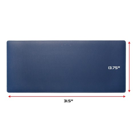 ENHANCE PU Leather Mouse Pad - Faux Leather Desk Protector - Office Desk Decor Home Office (Blue)