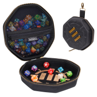 ENHANCE Tabletop Gaming Dice Case and Rolling Tray - Storage for up to 150 Dice - Black