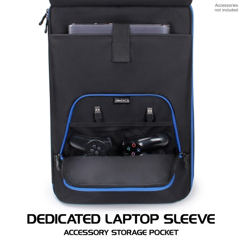 ENHANCE Arcade Fight Stick Backpack Travel Bag - Gaming Joystick Controller Fightstick Case with Joystick Shield Customizable Interior