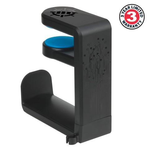 Gaming Headset Holder Hanger Mount by ENHANCE - Adjustable Under Desk Design - Black