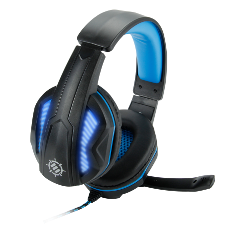 ENHANCE Voltaic 7.1 Virtual Surround Sound USB Gaming Headset with Blue LED